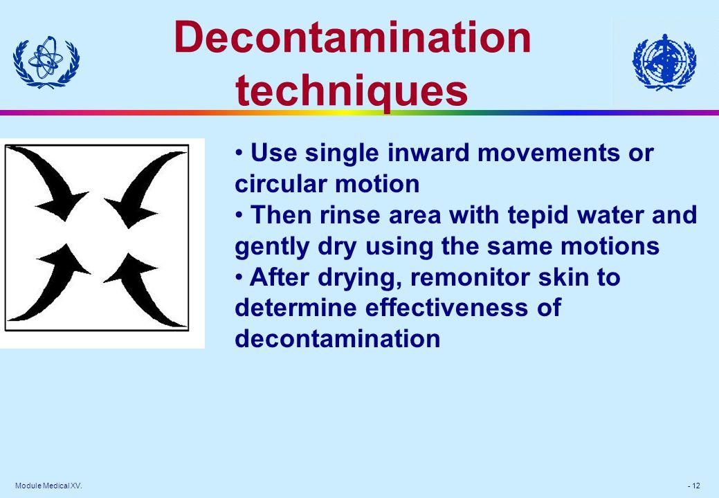 Decontamination techniques