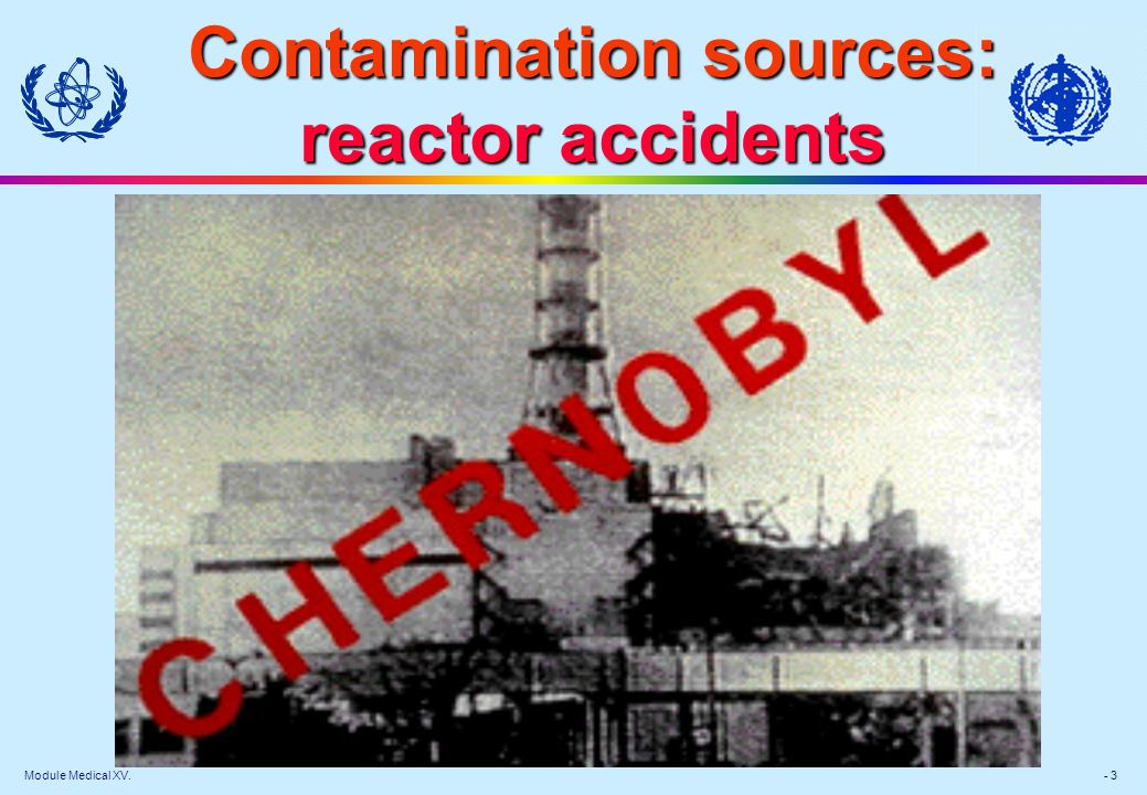 Contamination sources: reactor accidents