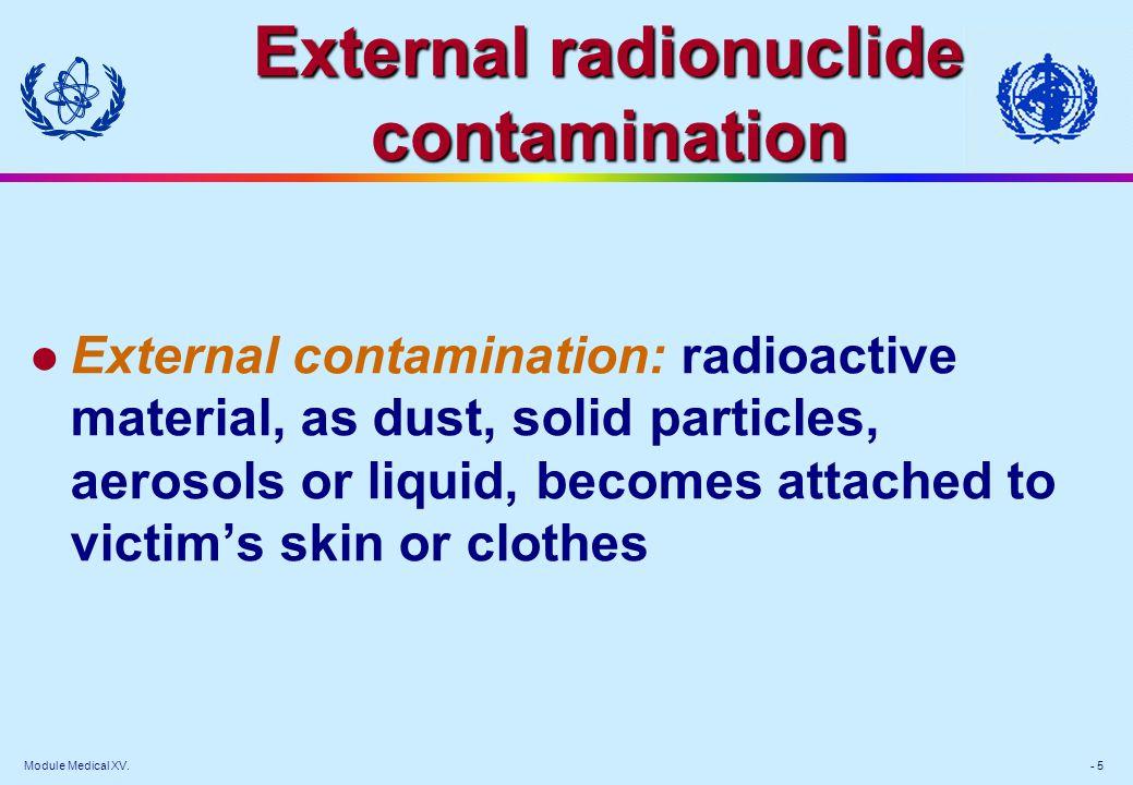External radionuclide contamination
