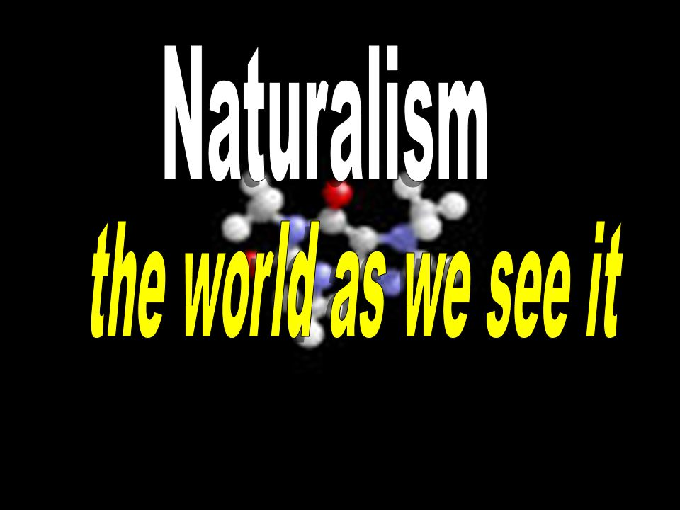 Naturalism the world as we see it
