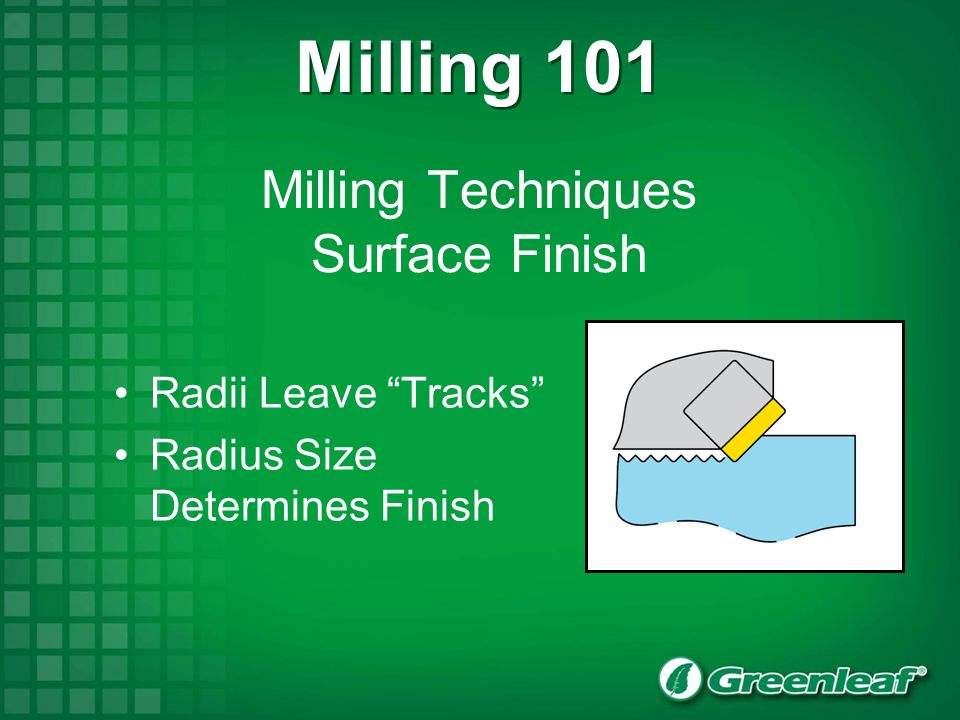 Milling Techniques Surface Finish