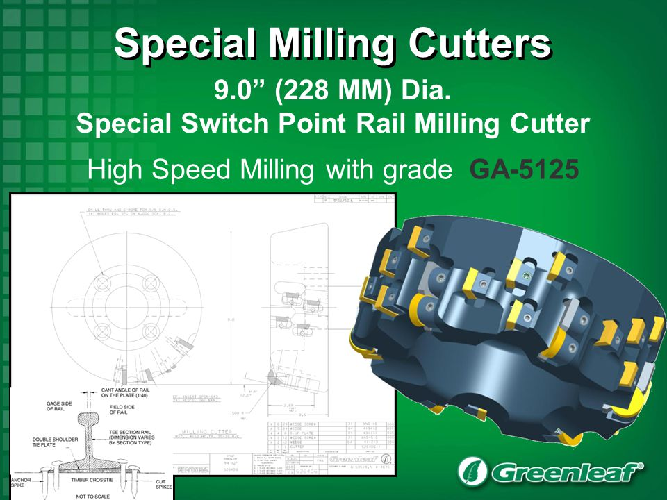 Special Milling Cutters Special Switch Point Rail Milling Cutter
