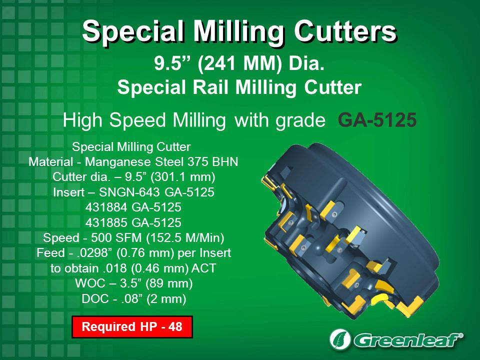 Special Milling Cutters Special Rail Milling Cutter