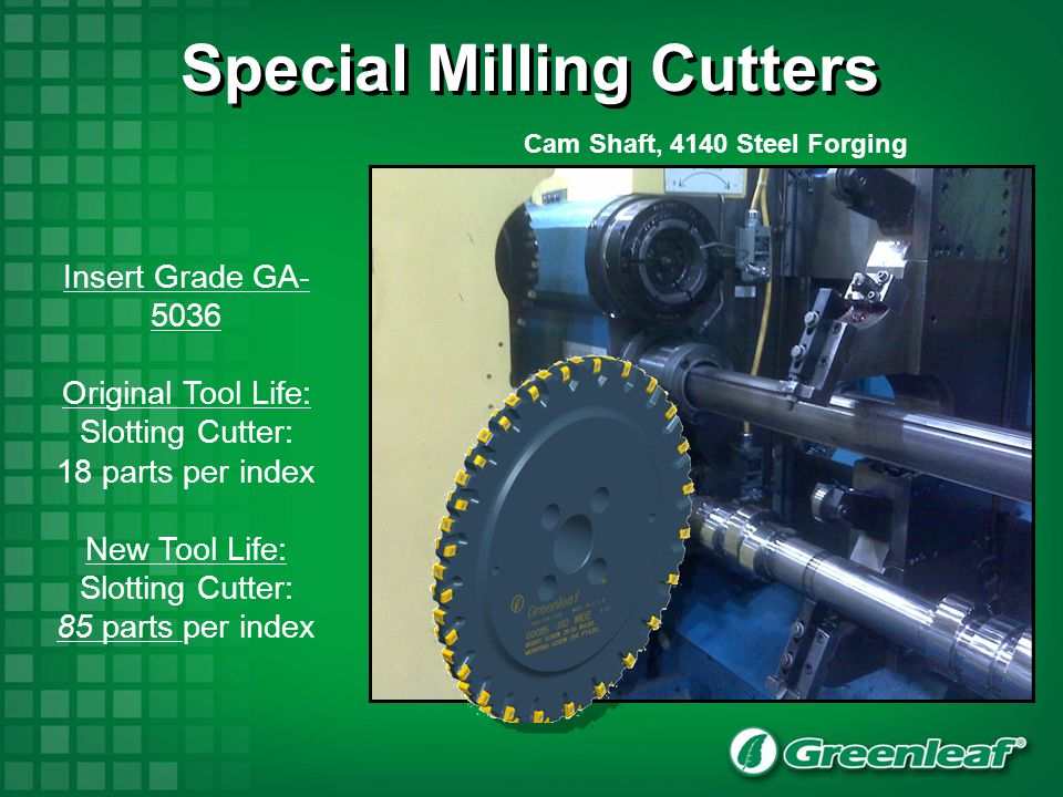 Special Milling Cutters Cam Shaft, 4140 Steel Forging
