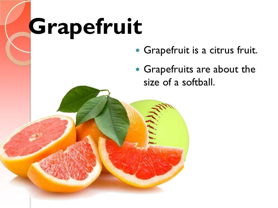 Grapefruit Grapefruit is a citrus fruit.