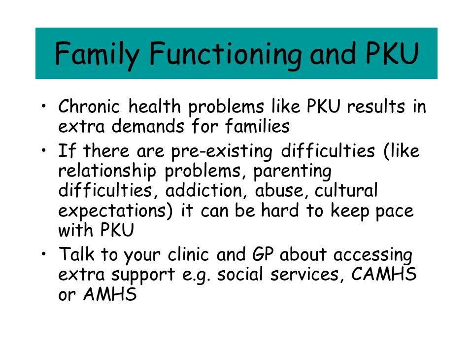 Family Functioning and PKU