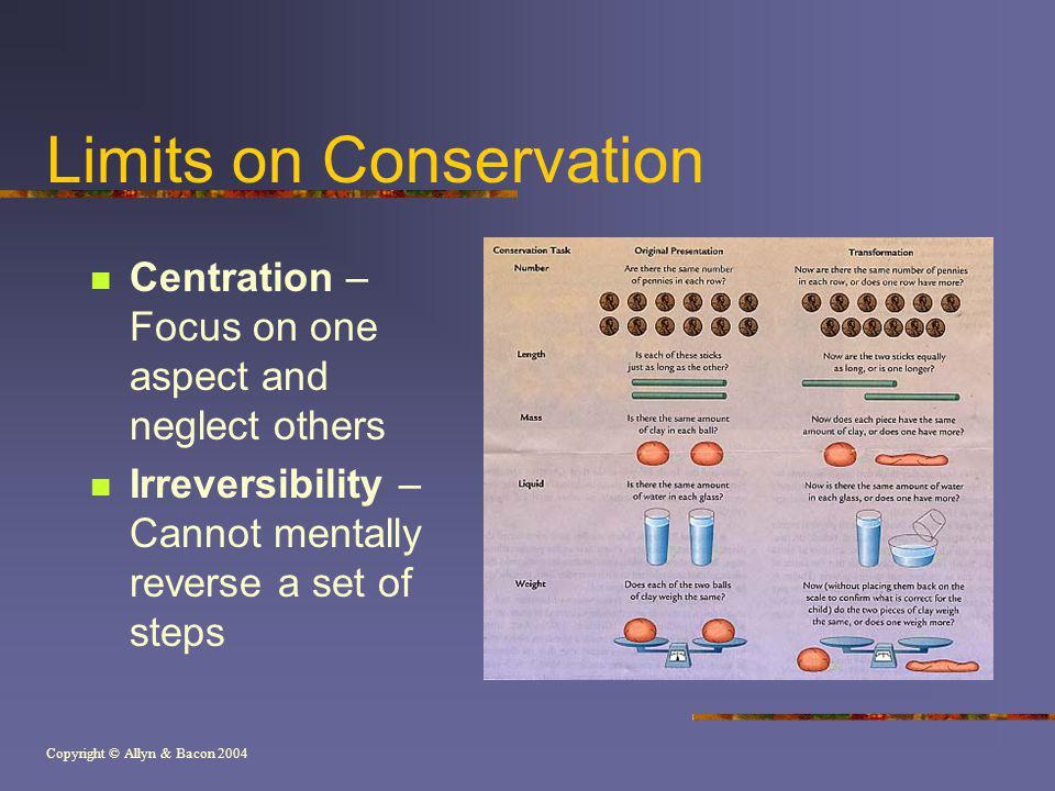 Limits on Conservation
