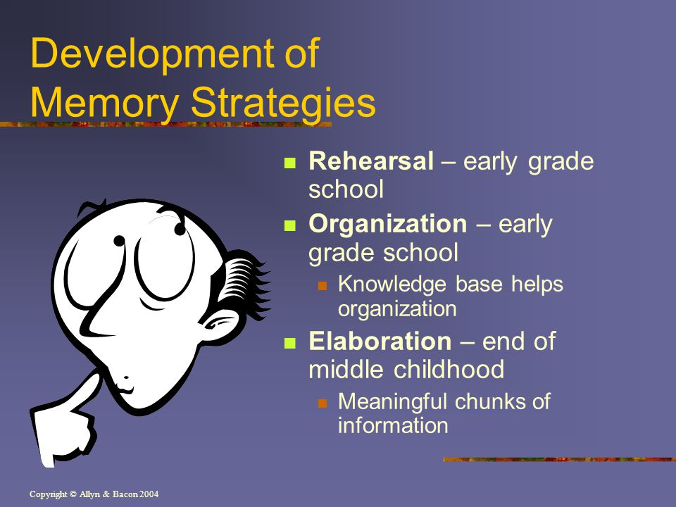 Development of Memory Strategies