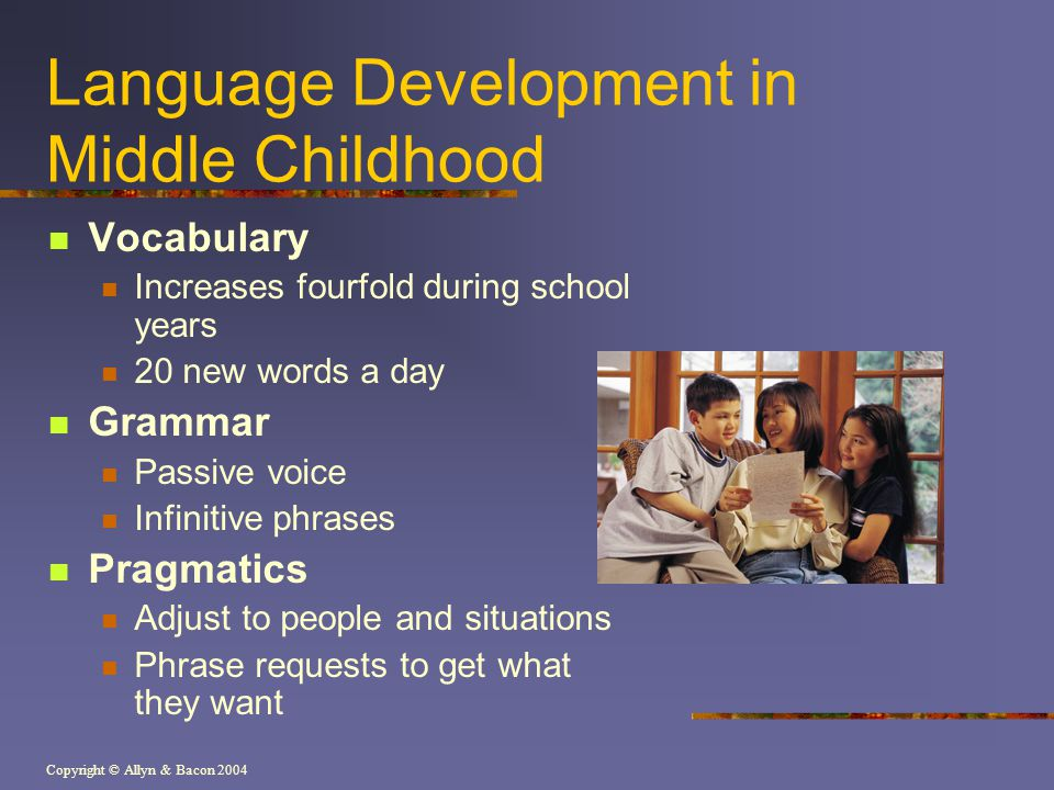 Language Development in Middle Childhood