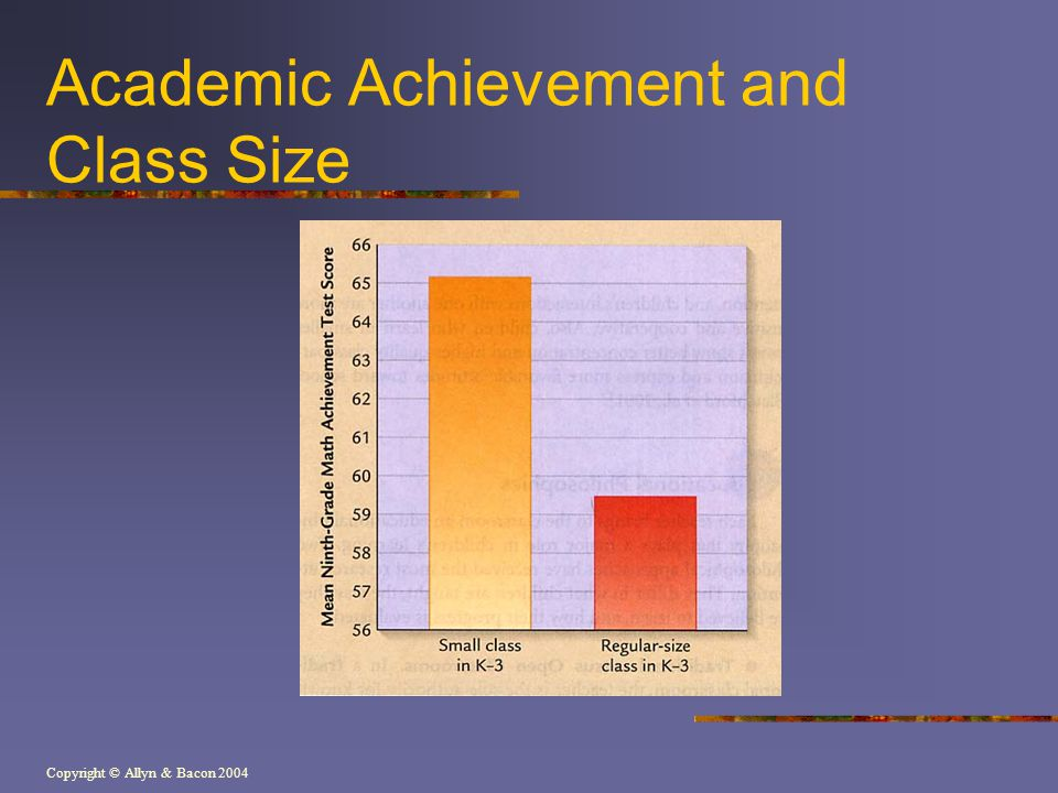 Academic Achievement and Class Size