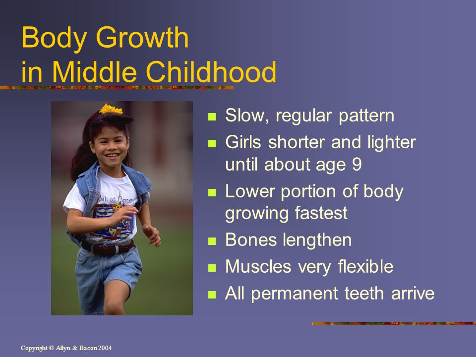 Body Growth in Middle Childhood