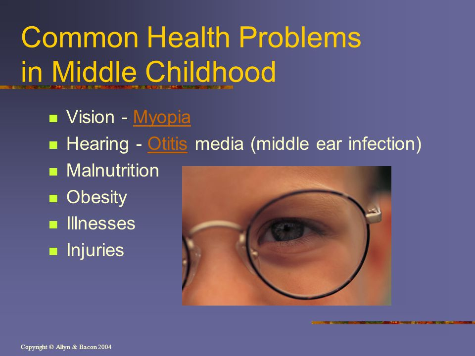 Common Health Problems in Middle Childhood