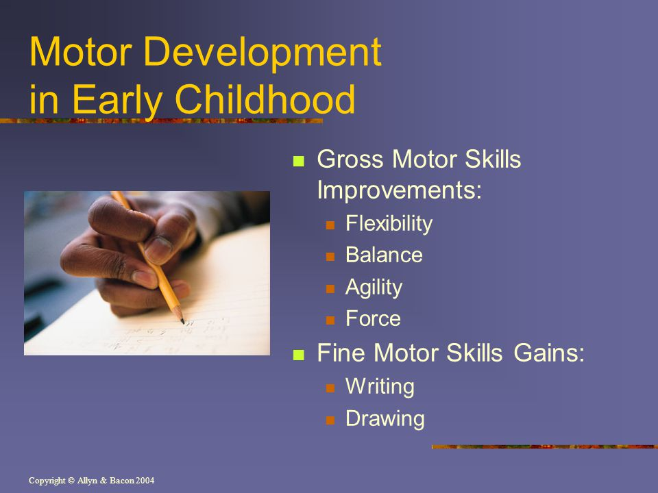 Motor Development in Early Childhood