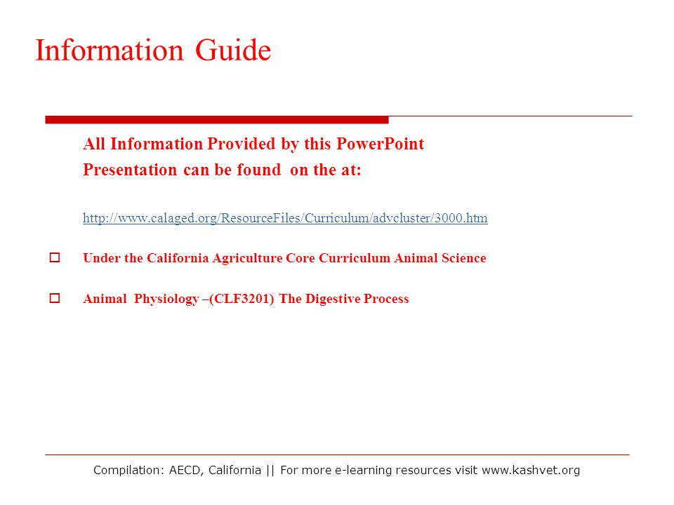 Information Guide All Information Provided by this PowerPoint