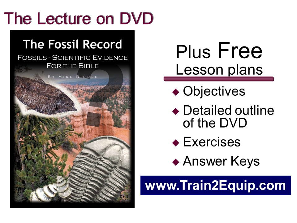 Plus Free The Lecture on DVD Lesson plans Objectives