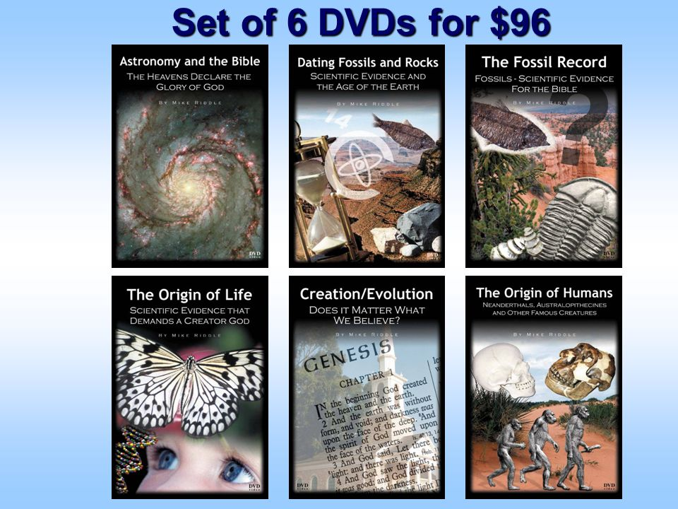 Set of 6 DVDs for $96