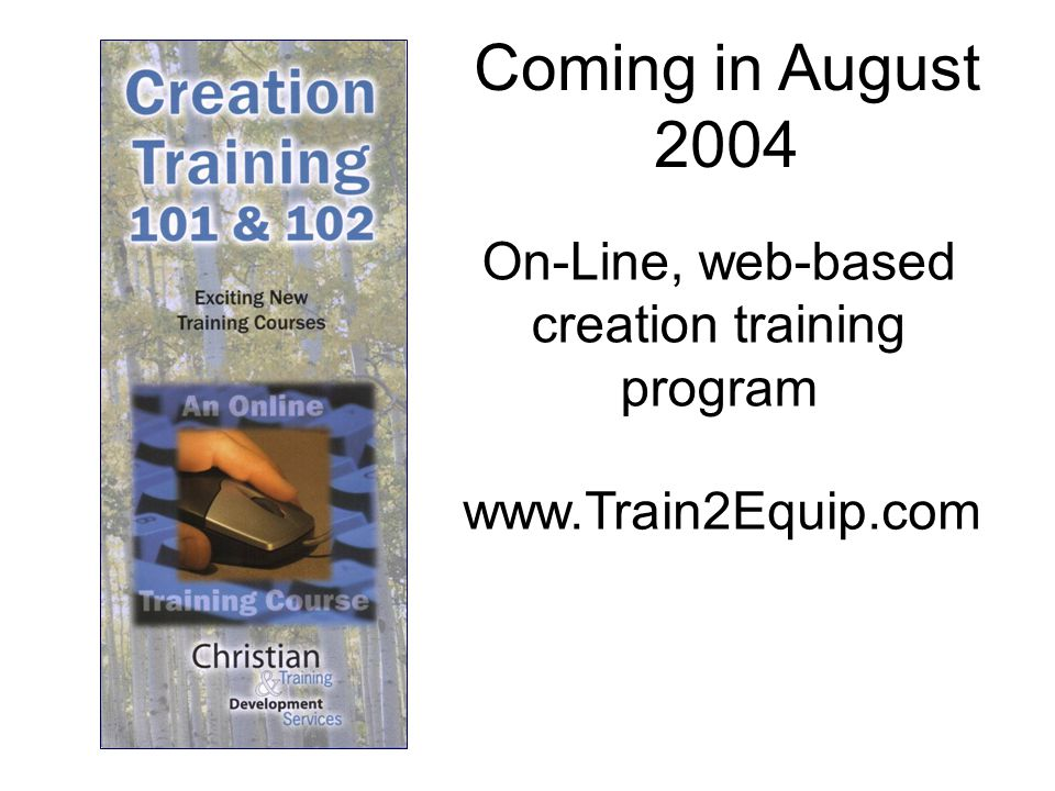 On-Line, web-based creation training program