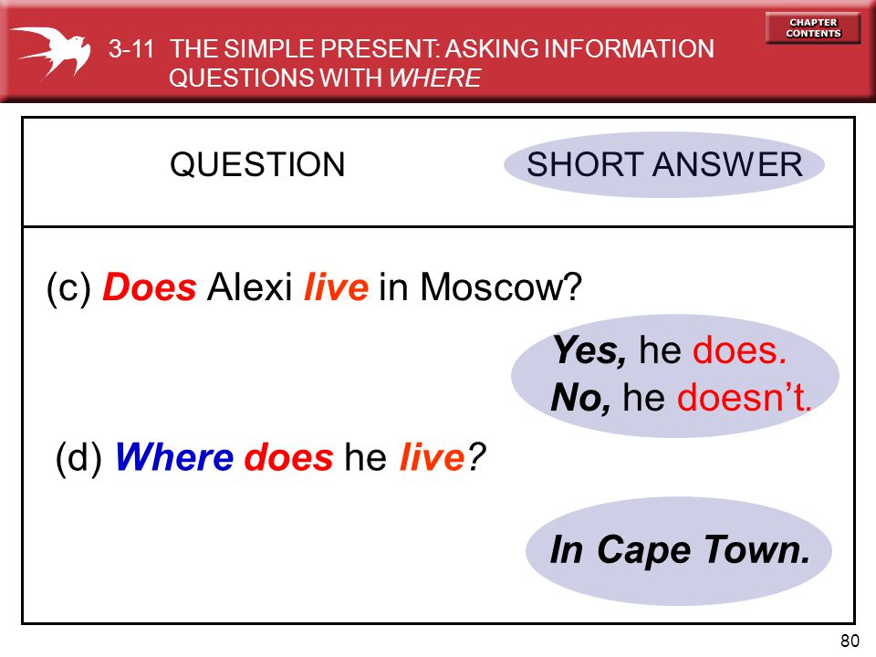 (c) Does Alexi live in Moscow