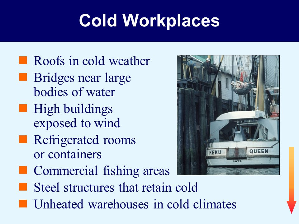 Cold Workplaces Roofs in cold weather