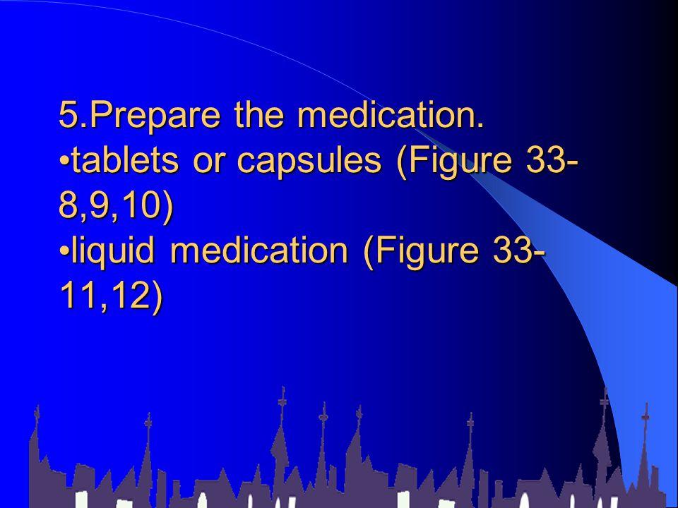 5. Prepare the medication