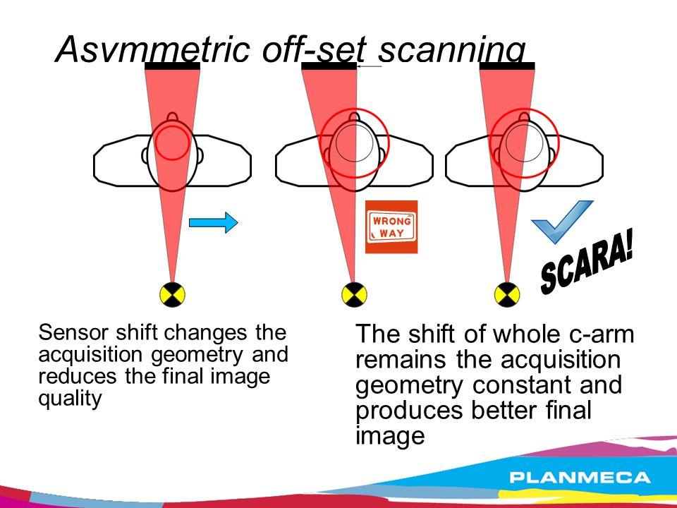 Asymmetric off-set scanning