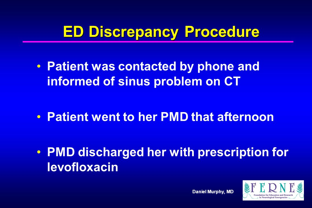 ED Discrepancy Procedure
