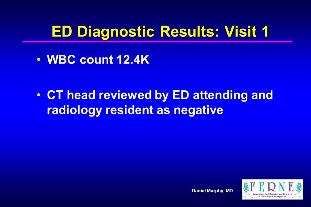 ED Diagnostic Results: Visit 1
