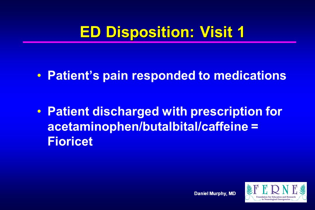 ED Disposition: Visit 1 Patient's pain responded to medications