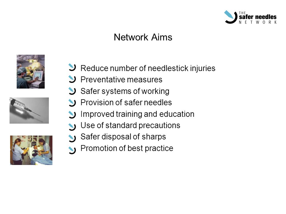 Network Aims Reduce number of needlestick injuries