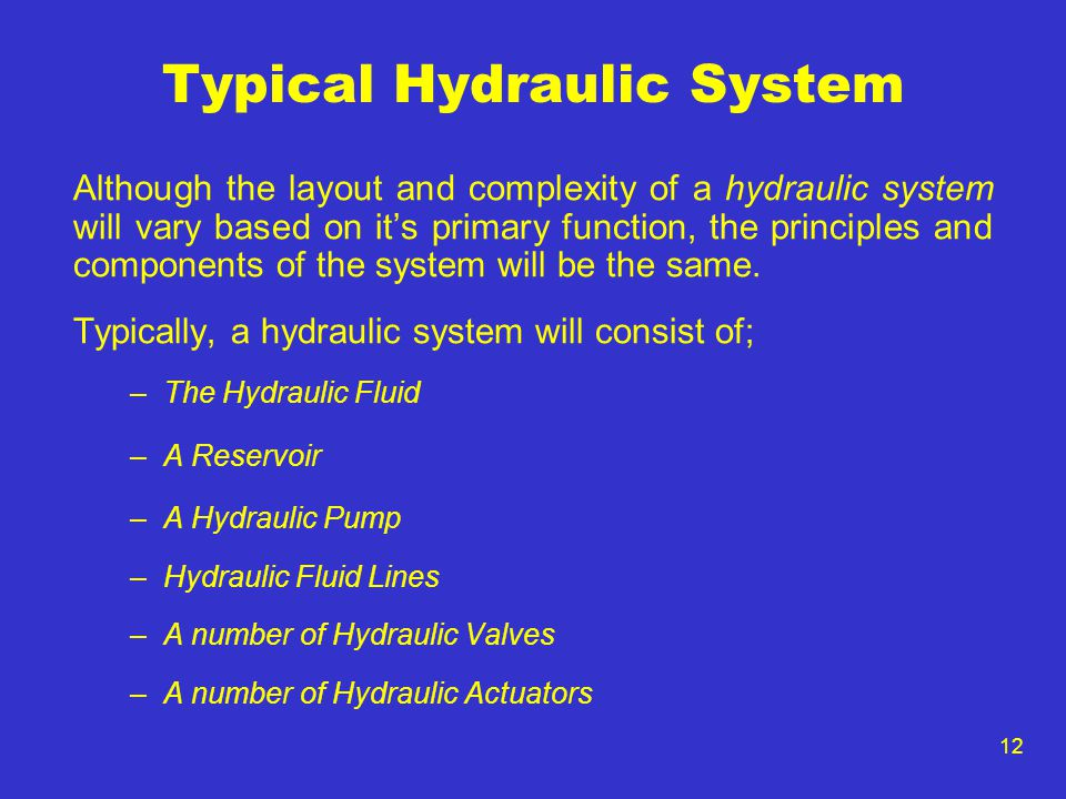 Typical Hydraulic System