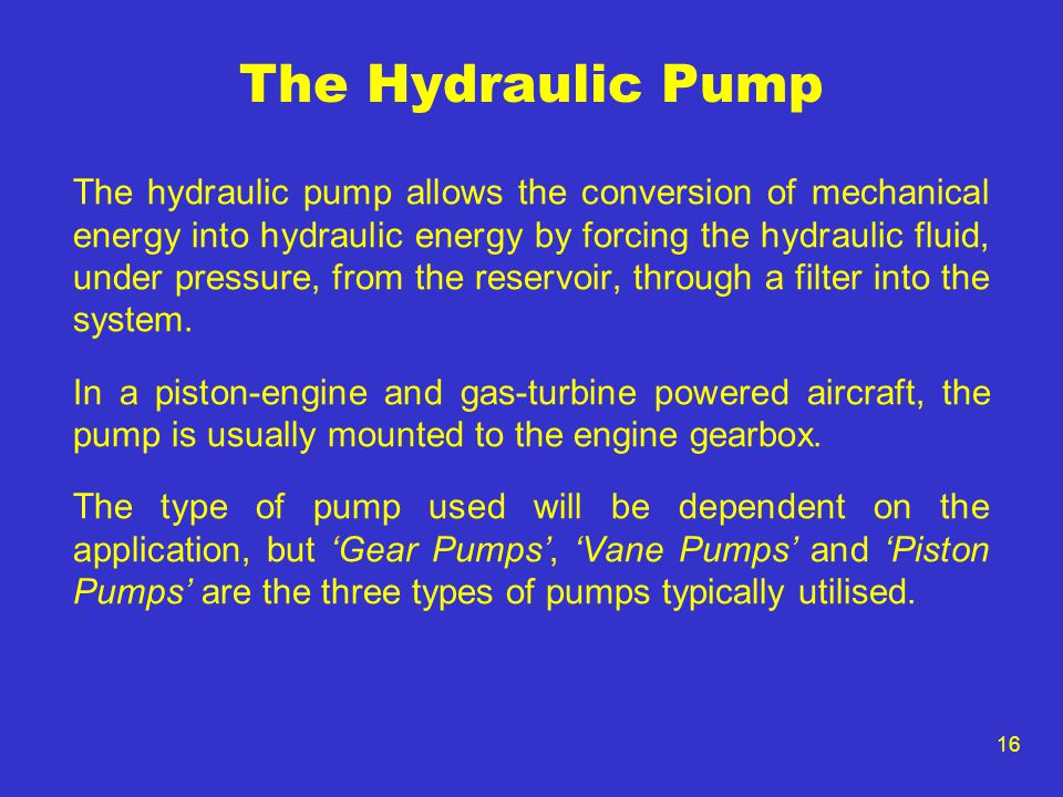 The Hydraulic Pump