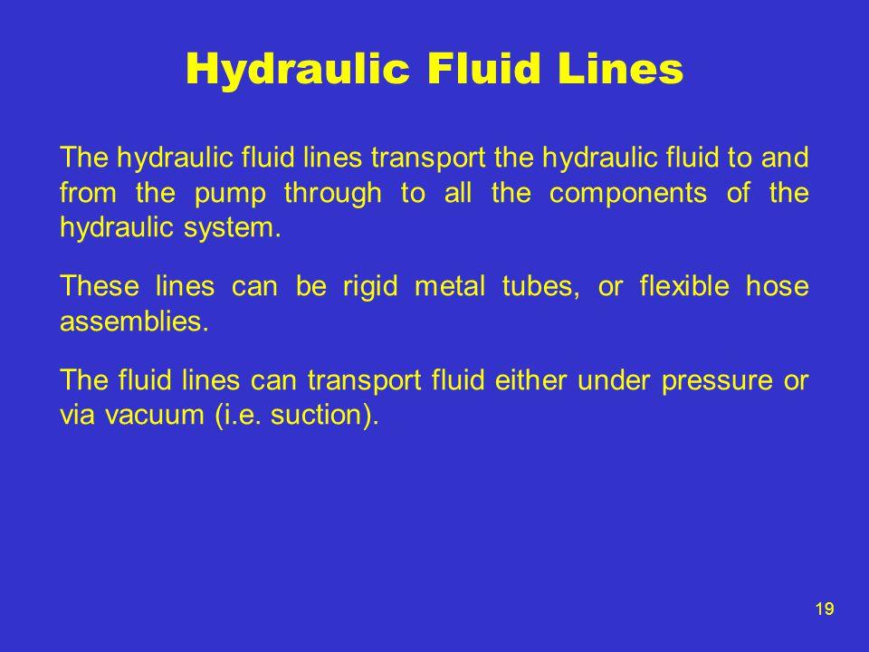Hydraulic Fluid Lines