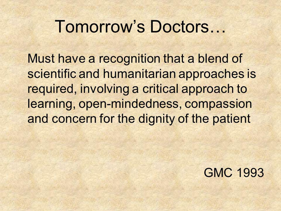 Tomorrow's Doctors…
