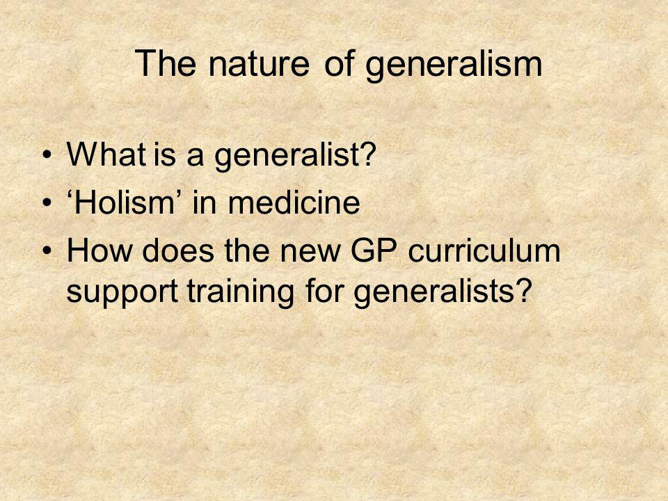 The nature of generalism