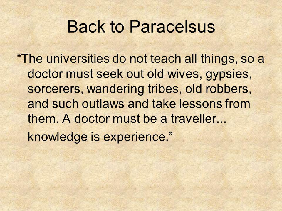 Back to Paracelsus
