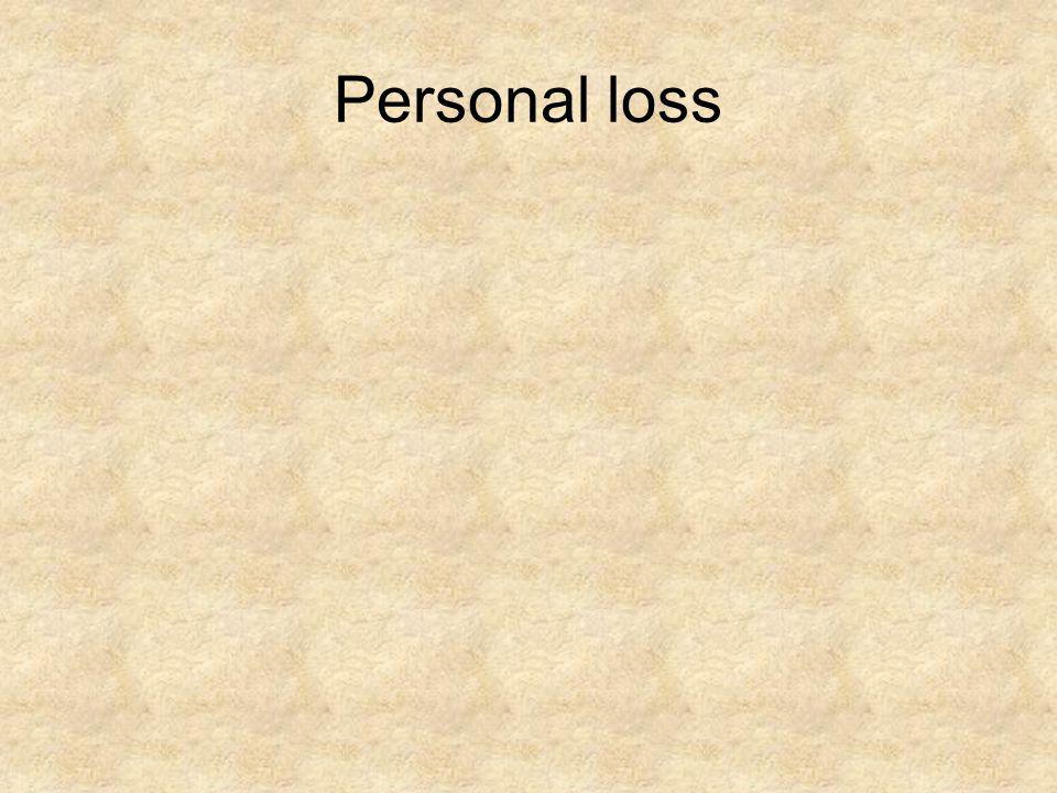 Personal loss