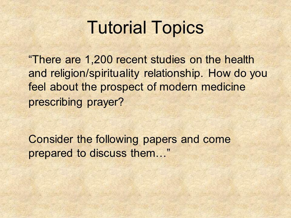 Tutorial Topics