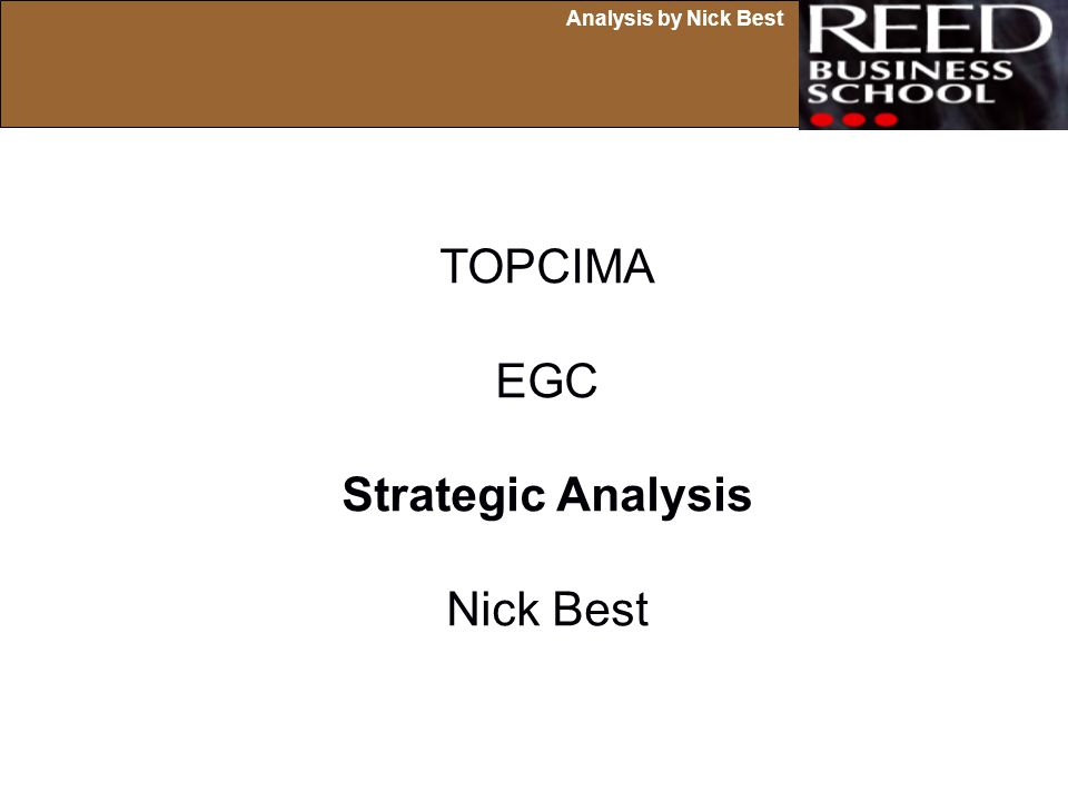 TOPCIMA EGC Strategic Analysis Nick Best