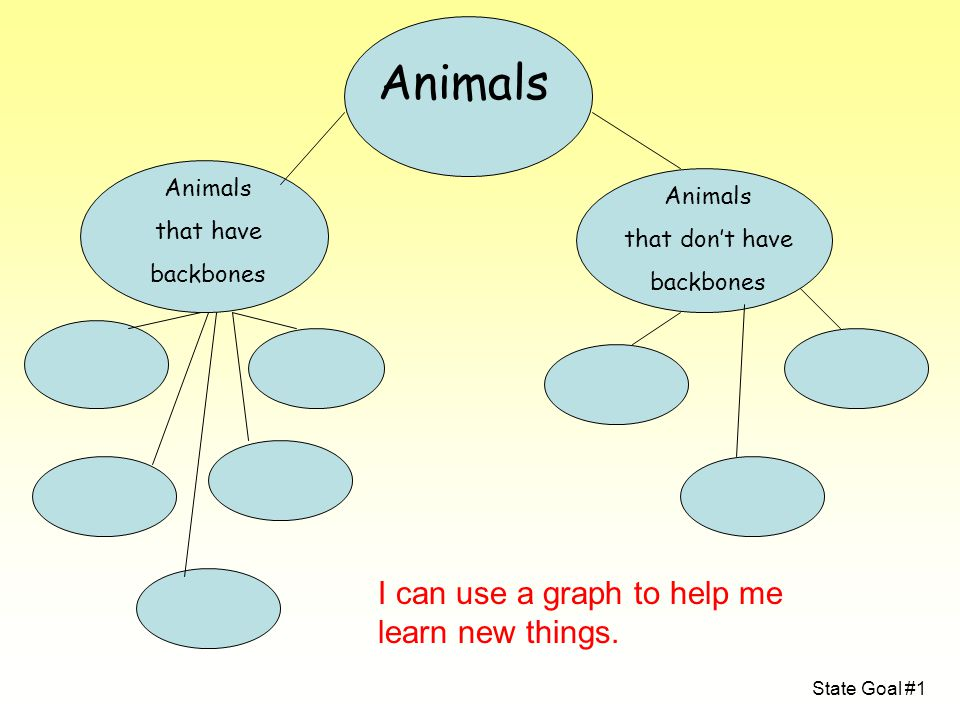 Animals I can use a graph to help me learn new things. Animals Animals