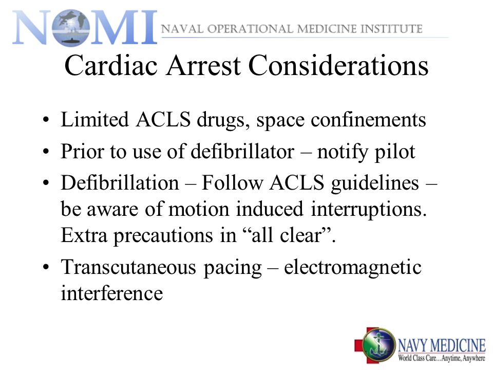 Cardiac Arrest Considerations