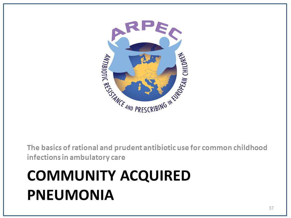 COMMUNITY ACQUIRED PNEUMONIA