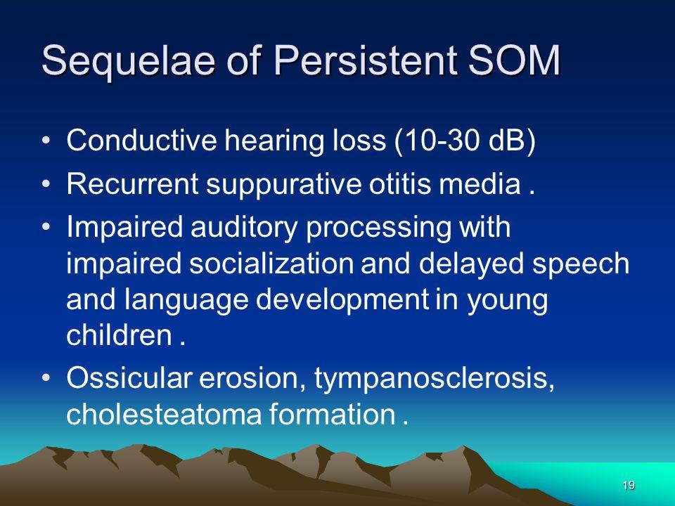 Sequelae of Persistent SOM