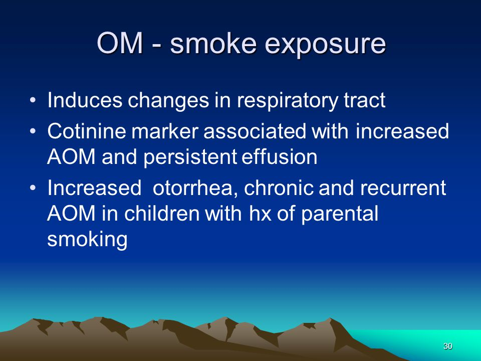 OM - smoke exposure Induces changes in respiratory tract