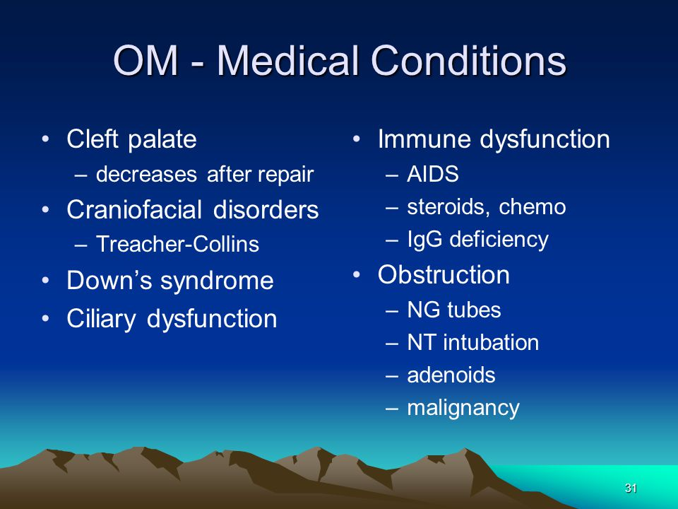 OM - Medical Conditions