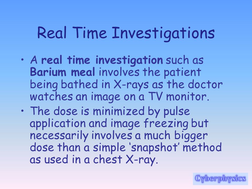 Real Time Investigations