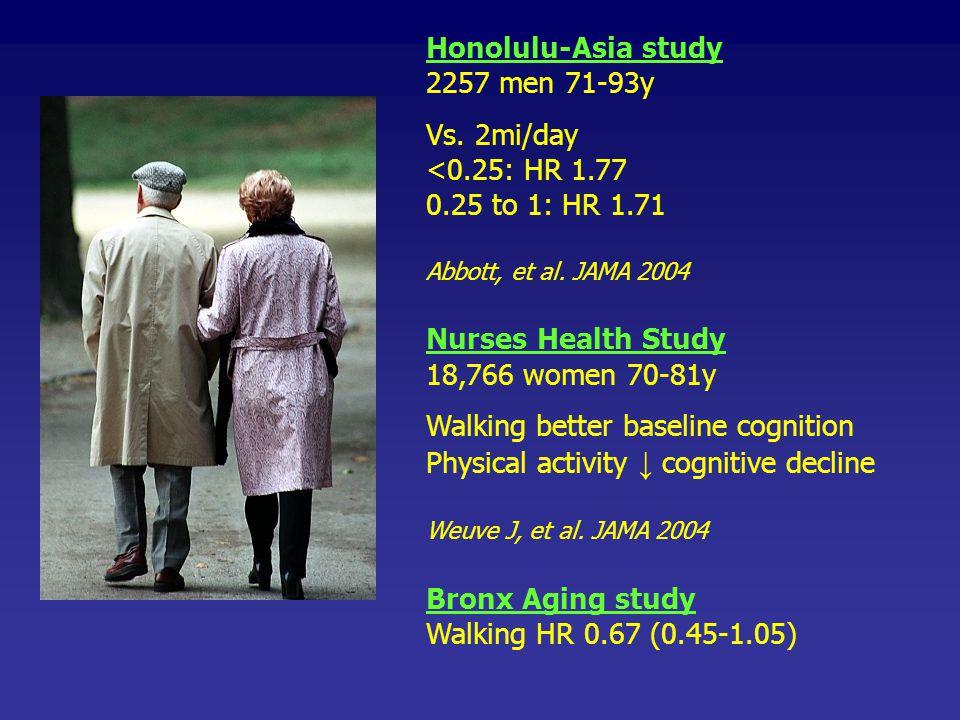 Walking better baseline cognition