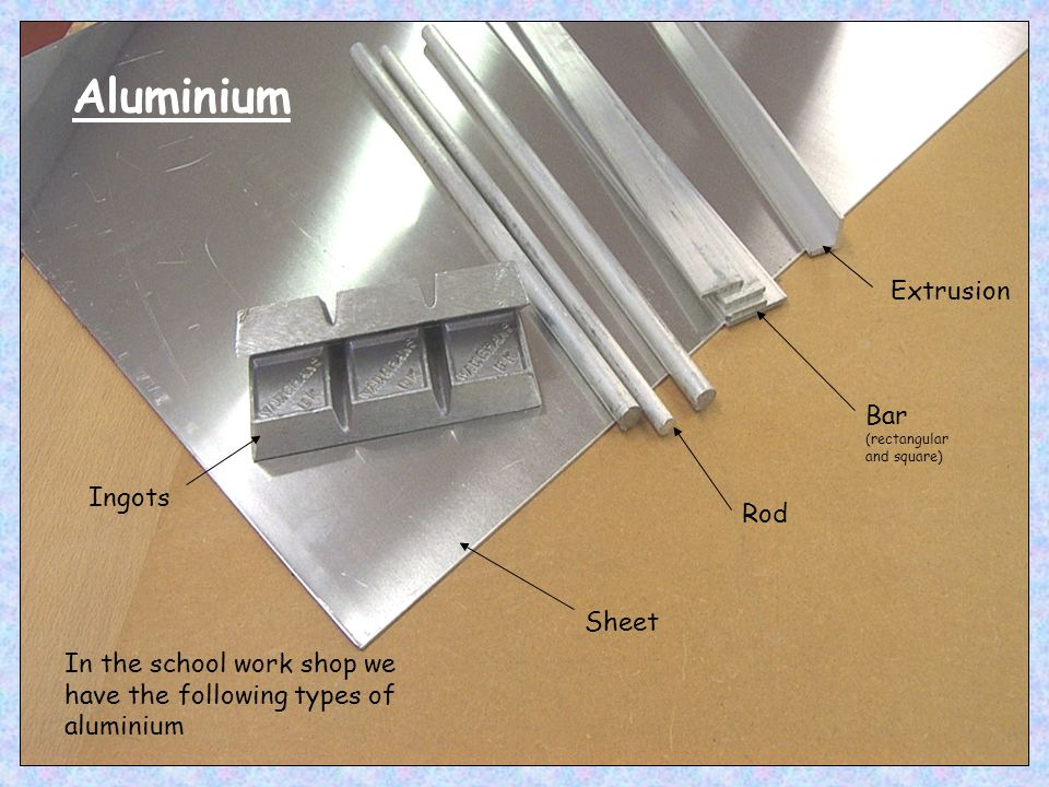 Aluminium Extrusion Bar (rectangular and square) Ingots Rod Sheet