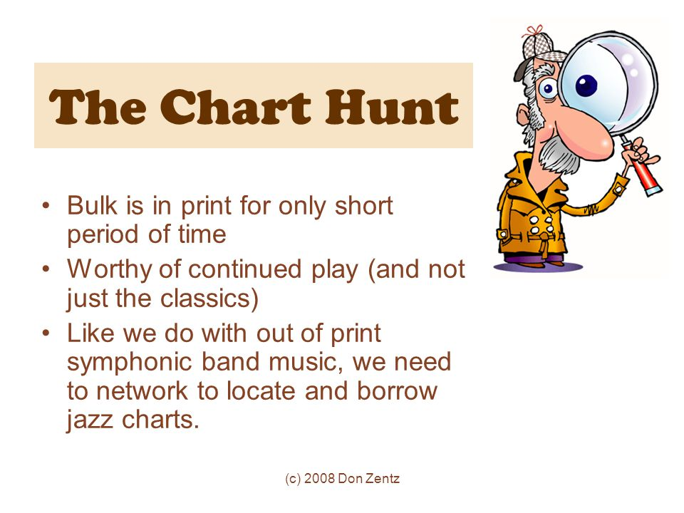 The Chart Hunt Bulk is in print for only short period of time