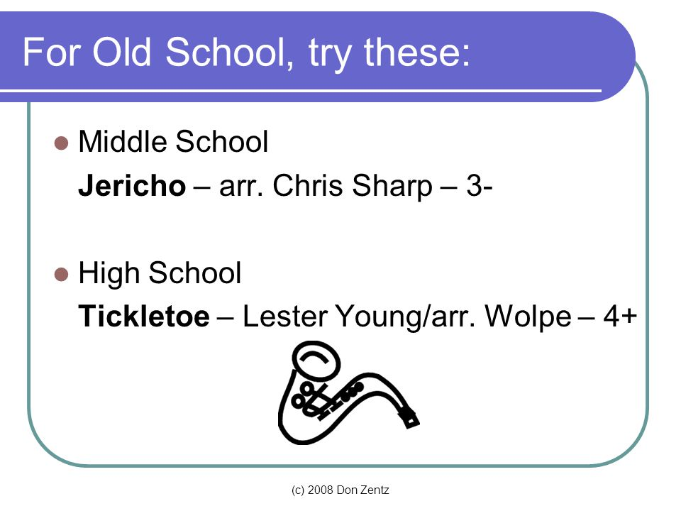 For Old School, try these: