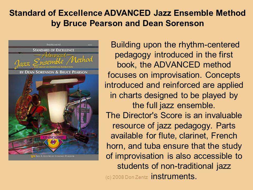 Standard of Excellence ADVANCED Jazz Ensemble Method by Bruce Pearson and Dean Sorenson